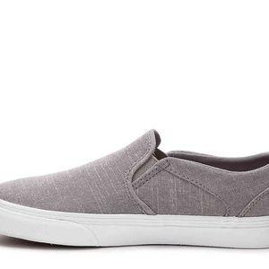 Vans Shoes - VANS Asher Chambray Slip-On Sneaker (Grey) 4bbf675e4